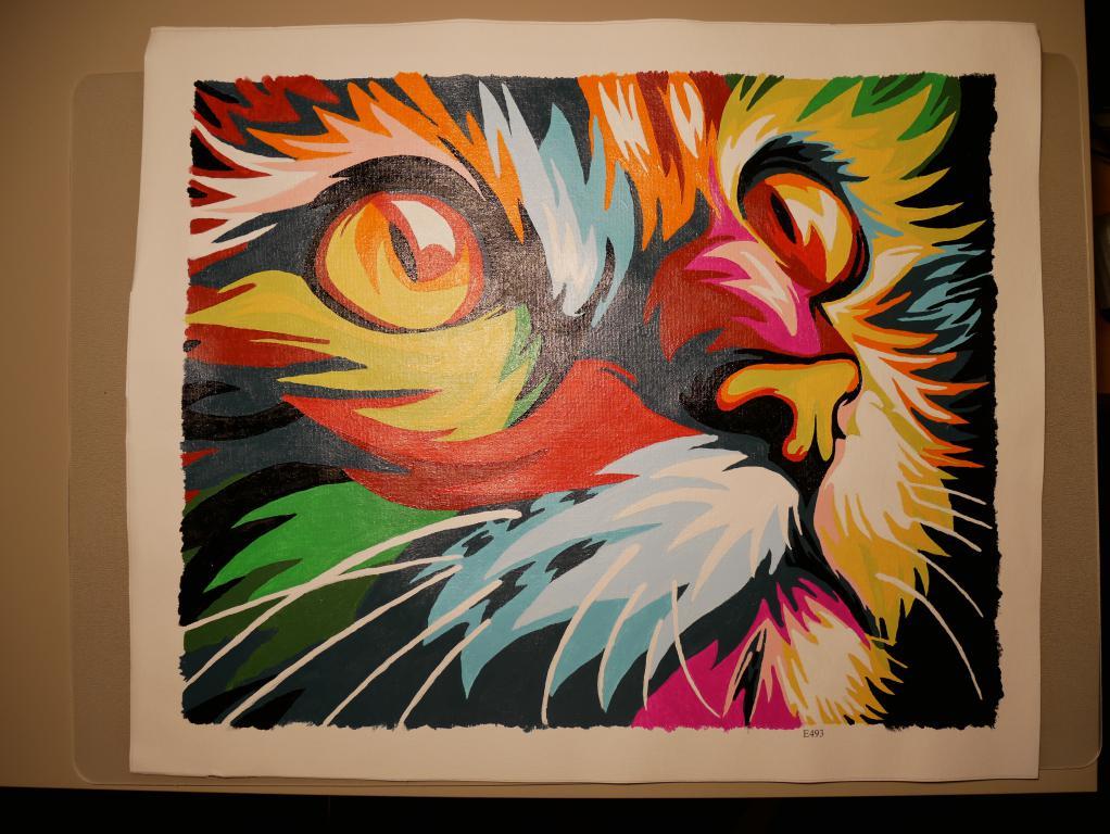 Painting by numbers – czyli stwórz własne arcydzieło - kot po namalowaniu