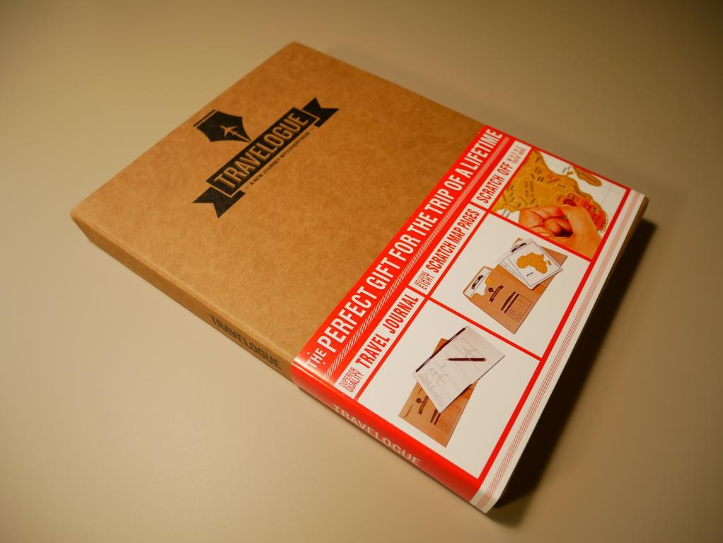 Dziennik podróży ze zdrapkowymi mapami z Aliexpress - dziennik w całości