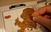 Dziennik podróży ze zdrapkowymi mapami z Aliexpress - zdrapywanie mapy